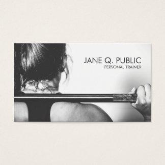 Entrenamiento personal blanco y negro de la tarjetas de visita
