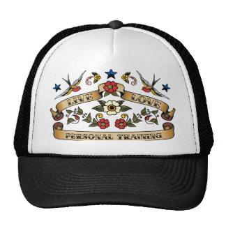Entrenamiento personal del amor vivo gorras de camionero