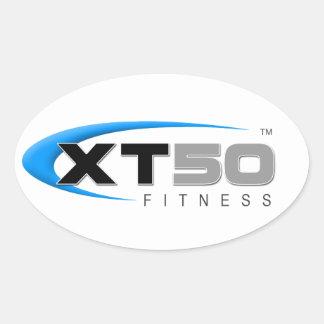 Entrenamientos en línea de la aptitud XT50 Pegatina Ovalada