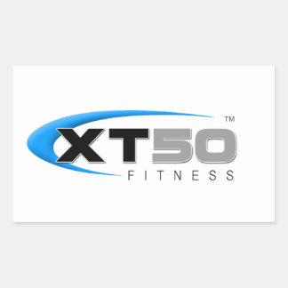 Entrenamientos en línea de la aptitud XT50 Pegatina Rectangular