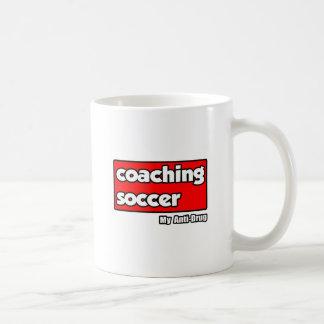 Entrenando fútbol… mi antinarcótico taza de café