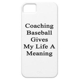 Entrenar béisbol da a mi vida un significado iPhone 5 Case-Mate coberturas