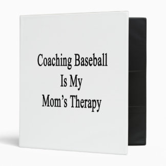 Entrenar béisbol es la terapia de mi mamá