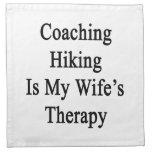 Entrenar caminar es la terapia de mi esposa servilleta