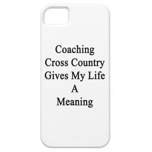 Entrenar el campo a través da a mi vida un iPhone 5 Case-Mate fundas