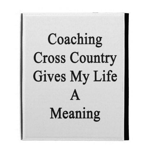 Entrenar el campo a través da a mi vida un signifi