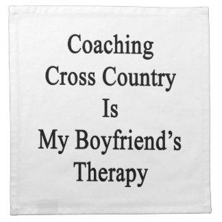 Entrenar el campo a través es la terapia de mi nov servilletas imprimidas