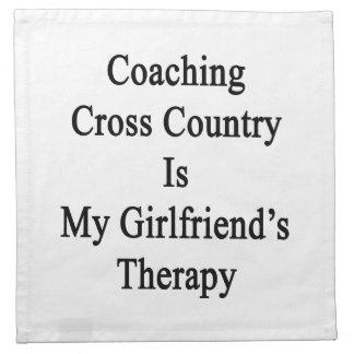 Entrenar el campo a través es la terapia de mi nov servilleta de papel
