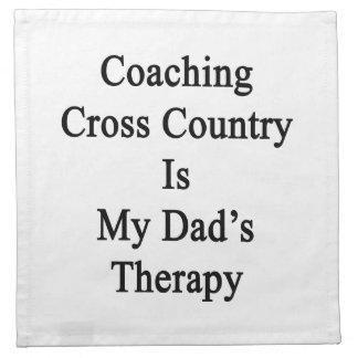 Entrenar el campo a través es la terapia de mi pap servilletas de papel