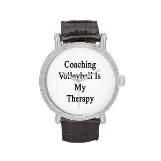 Entrenar voleibol es mi terapia relojes de pulsera