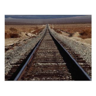 Entrene a las pistas, desierto de Mojave, Tarjeta Postal
