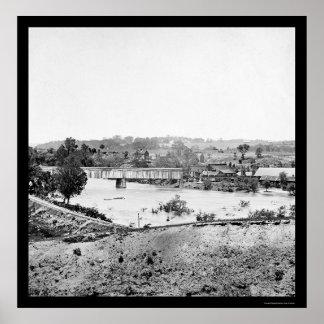 Entrene a los trabajos cerca de Richmond, VA 1865  Posters