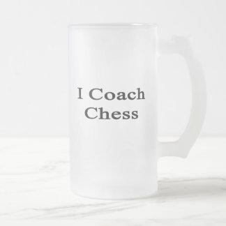 Entreno ajedrez taza de cristal