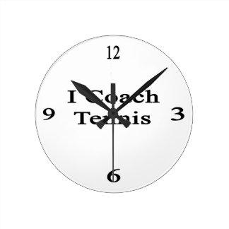 Entreno tenis relojes de pared