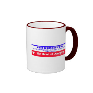 entrepeneur usa's heart the risk takers coffee mugs