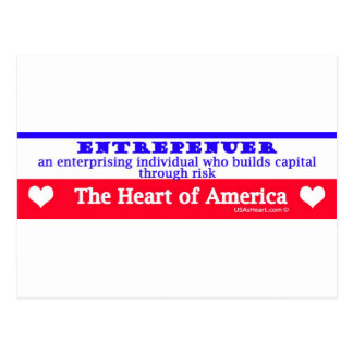 entrepeneur usa's heart the risk takers post card