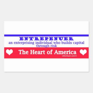 entrepeneur usa's heart the risk takers rectangular sticker