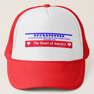 entrepeneur usa's heart the risk takers trucker hat