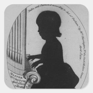 Entrepierna de Guillermo que juega el órgano Pegatinas Cuadradas