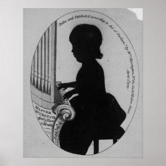 Entrepierna de Guillermo que juega el órgano Póster
