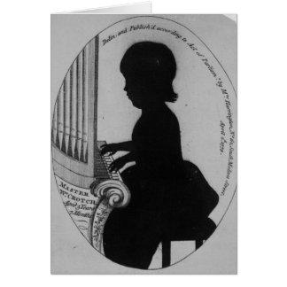 Entrepierna de Guillermo que juega el órgano Tarjeta De Felicitación