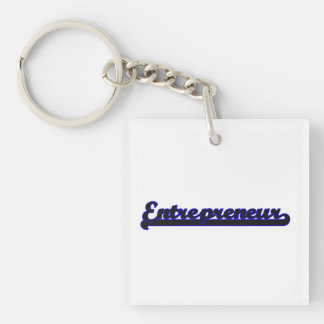 Entrepreneur Classic Job Design Single-Sided Square Acrylic Keychain