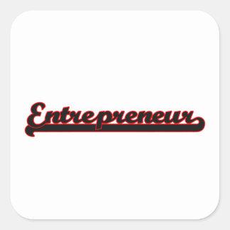 Entrepreneur Classic Job Design Square Sticker