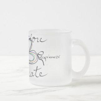 Entrepreneur Motivational Mug/Original Quote&Art Frosted Glass Coffee Mug