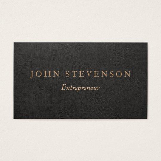Entrepreneur Professional Black Linen Look Vintage Business Card ...