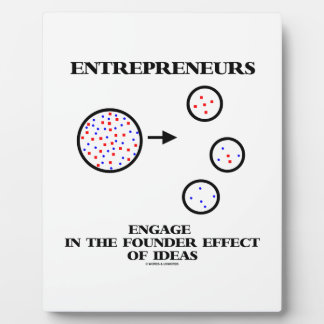 Entrepreneurs Engage In Founder Effect Of Ideas Display Plaques