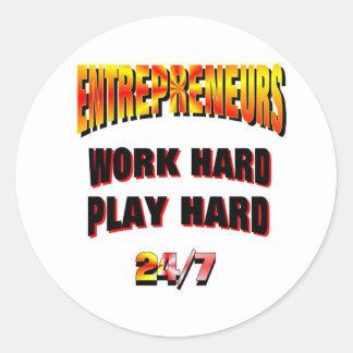 Entrepreneurs..Get Sticky!! Round Stickers