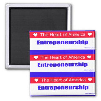 Entrepreneurs - The Heart of America 2 Inch Square Magnet