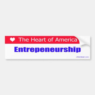 Entrepreneurs - The Heart of America Bumper Sticker