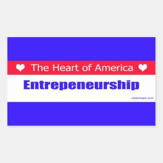 Entrepreneurs - The Heart of America Rectangular Sticker
