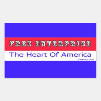 Entrepreneurship - The Heart of America Rectangular Sticker