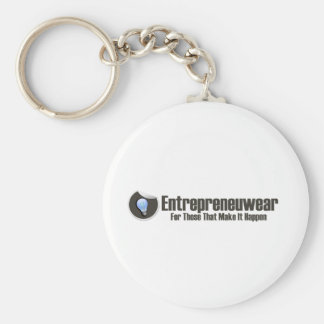 Entrepreneuwear Clothing   Rep The Startup Brand Basic Round Button Keychain