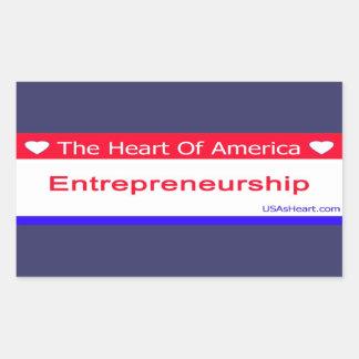 entreprenuershiip, entrepreneur, freedom, usa, rectangular sticker