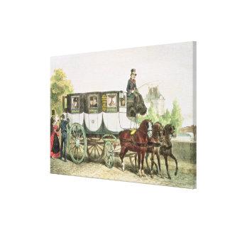 Entreprise Generale des Omnibus', Canvas Print
