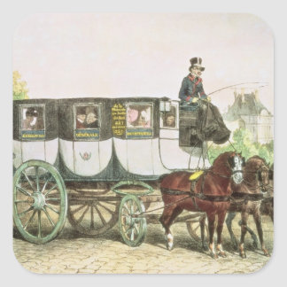 Entreprise Generale des Omnibus', Square Sticker