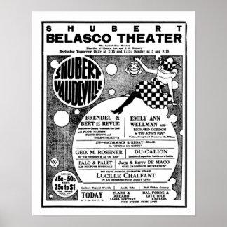 entretenimiento 1921 del poster del vodevil del vi