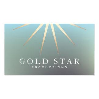 Entretenimiento del logotipo de la estrella del or tarjetas de visita