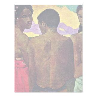 Entretenimiento en Tahití de Gauguin Paul Membrete Personalizado