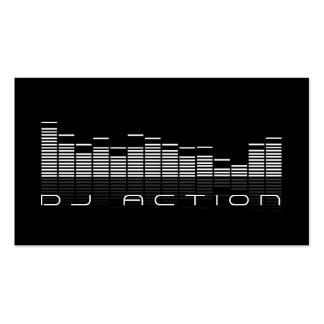 Entretenimiento fresco del club de la música de DJ Tarjetas De Visita