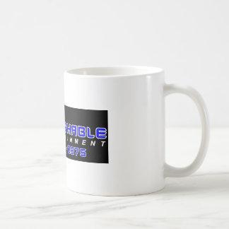 Entretenimiento intocable taza básica blanca