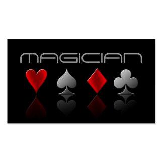 Entretenimiento mágico del truco del póker de la t tarjetas de visita
