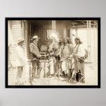 Entrevistarse con a tres indios SD 1887 de Cheyenn Impresiones