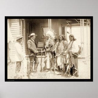 Entrevistarse con a tres indios SD 1887 de Cheyenn Póster