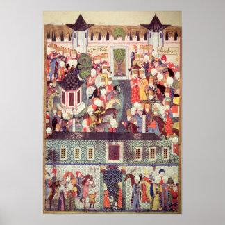 Entronización de Suleyman el magnífico Posters