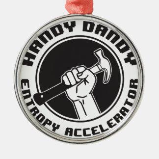 Entropy Accelerator Metal Ornament