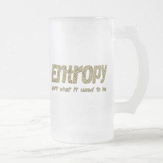 Entropy Frosted Glass Beer Mug